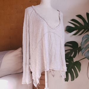 Free People Exposed Seam Waffle Thermal